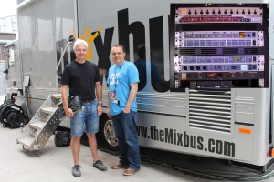 Conrad Fletcher and Kevin Duff with the MixBus for The Voice / (insert) RME in the rack