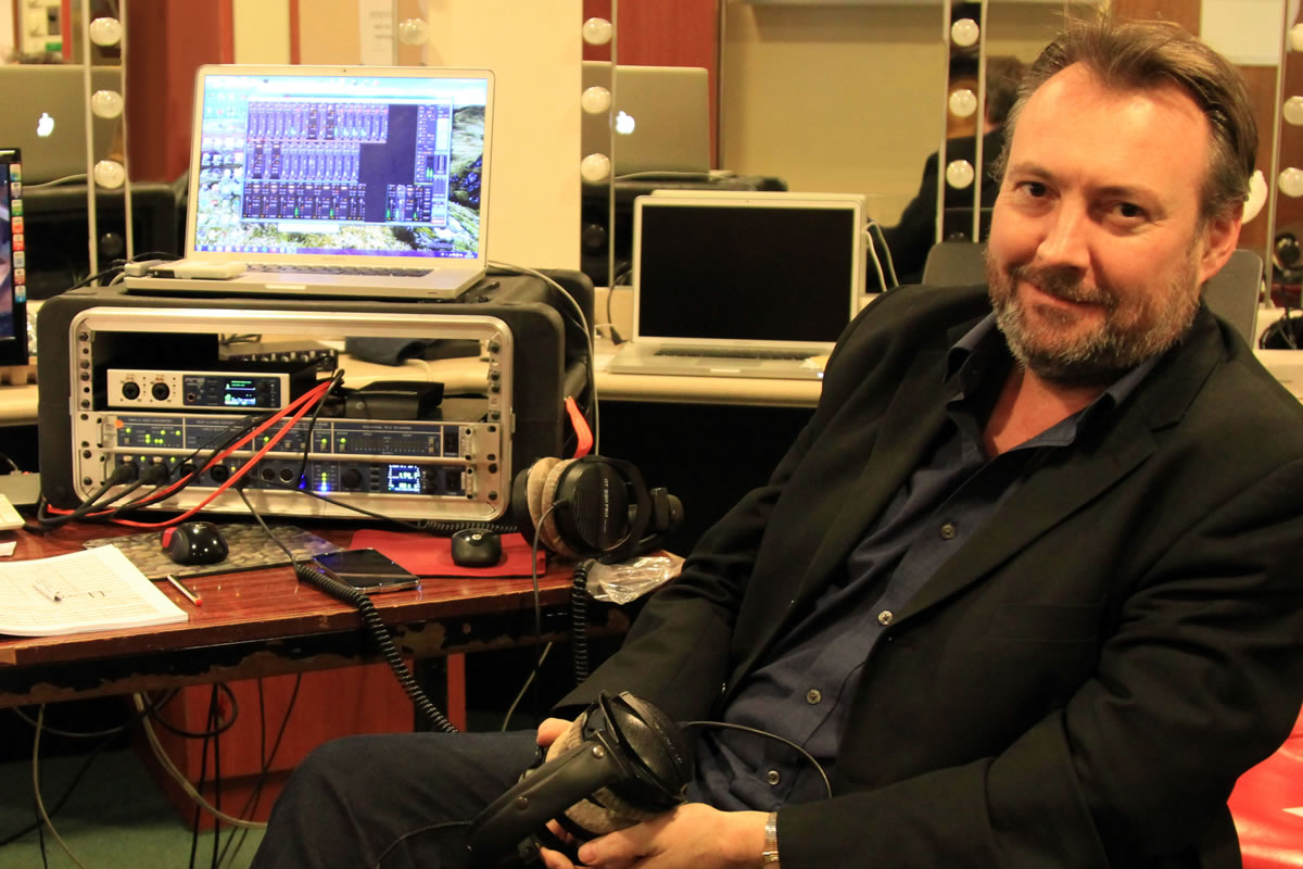 Phil Rowlands with his RME Suite - Synthax Audio UK